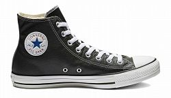 Converse Chuck Taylor Hi Leather Black-4.5 čierne 132170C-4.5