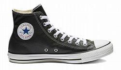 Converse Chuck Taylor Hi Leather Black-6.5 čierne 132170C-6.5